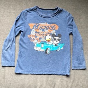 Disney Mickey's Motor Club Long Sleeve Tee